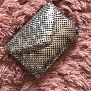 NWT Silver clutch or evening bag